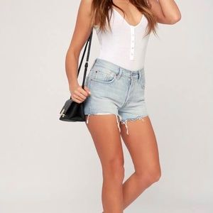 Levi's 501 High Rise Washed Jean Shorts/Sz:27/NWT